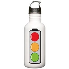 Traffic lights red gre Water Bottle