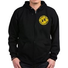 State of Jefferson Flag Zipped Hoodie