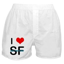 """I HEART SF"" Boxer Shorts"