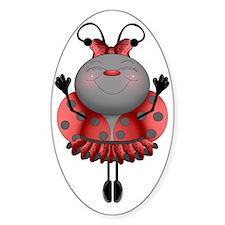 Dancing Ladybug Ballerina Decal