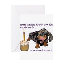 Dachshund Happy Birthday Greeting Cards