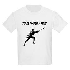 Custom Medieval Warrior With Sword T-Shirt
