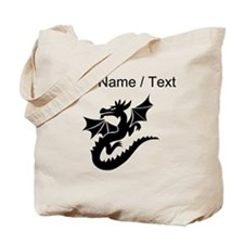 Custom Dragon With Wings Tote Bag