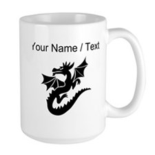 Custom Dragon With Wings Mugs