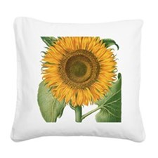 Vintage Sunflower Basilius Be Square Canvas Pillow