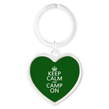 Keep Calm and Camp On Keychains
