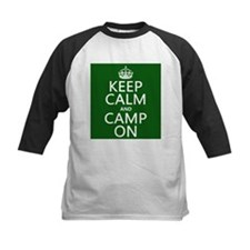 Keep Calm and Camp On Baseball Jersey