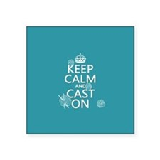 Keep Calm and Cast On Sticker