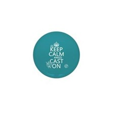 Keep Calm and Cast On Mini Button (10 pack)