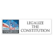 Cute Legalize constitution Bumper Sticker