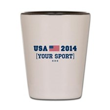 USA 2014 [Your Sport] Shot Glass