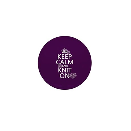 Keep Calm and Knit On Mini Button (10 pack)