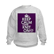 Keep Calm and Knit On Sweatshirt