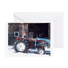 Hired Hand Rooster Greeting Card
