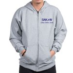 SNOW a four litter word Zip Hoodie