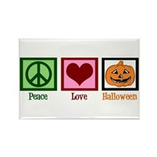 Peace Love Halloween Rectangle Magnet (10 pack)