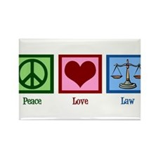 Peace Love Law Rectangle Magnet (10 pack)