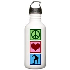 Peace Love Speed Skating Sports Water Bottle