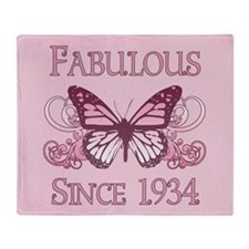 Fabulous Since 1934 Throw Blanket