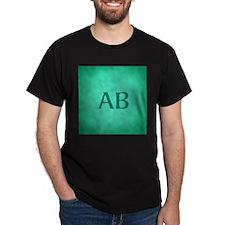 Teal Green Monogram T-Shirt