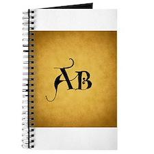 Vintage Style Monogram Custom Journal