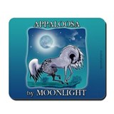 Appaloosa Horse by Moonlight Mousepad