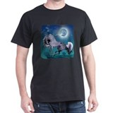 Appaloosa Horse by Moonlight Black T-Shirt