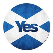 Yes Scotland flag Round Car Magnet