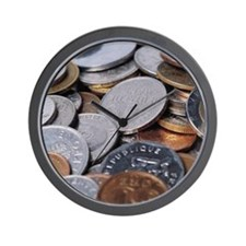 Coins of the World Wall Clock