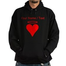 Custom Red Heart Angel Hoody