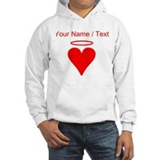 Custom Red Heart Angel Jumper Hoody