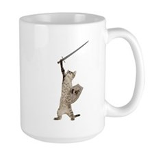 Heroic Warrior Knight Cat Mugs