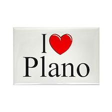 """I Love Plano"" Rectangle Magnet"