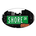 Shore Dr, Bronx, NYC Oval Sticker