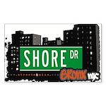 Shore Dr, Bronx, NYC Rectangle Sticker