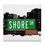 Shore Dr, Bronx, NYC  Tile Coaster