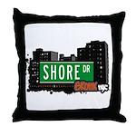 Shore Dr, Bronx, NYC  Throw Pillow