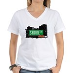 Shore Dr, Bronx, NYC  Women's V-Neck T-Shirt