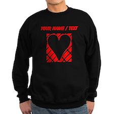 Custom Red Diagonal Bricks Background Heart Jumper