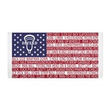 Lacrosse Defense Flag Beach Towel