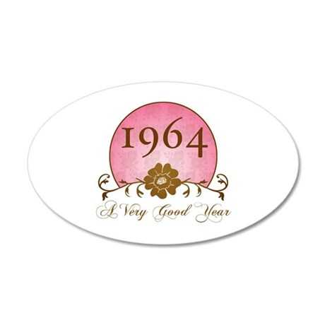 1964 Birthday For Her 20x12 Oval Wall Decal