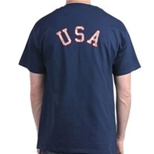 Vintage Team USA [back] T-Shirt