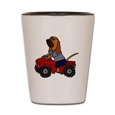 Bloodhound Driving ATV Shot Glass