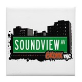 Soundview Av, Bronx, NYC  Tile Coaster