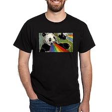 Rainbow Panda Vomit T-Shirt