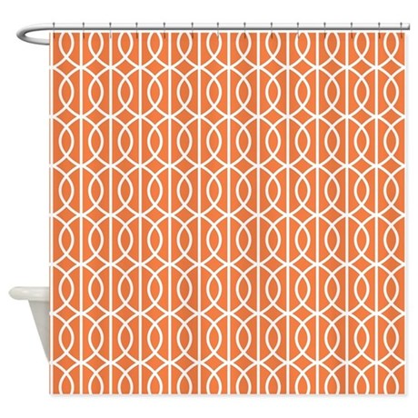 celosia orange modern pattern shower curtain by