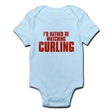 I'd Rather Be Watching Curling Infant Bodysuit