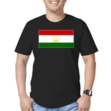 Tajikistan Flag Men's Fitted T-Shirt (Dark)