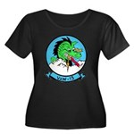VAW 13 Women's Plus Size Scoop Neck Dark T-Shirt