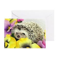 Hedgehog in flowers Greeting Card